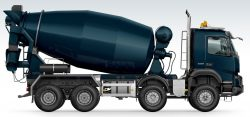 readymix concrete - drum mixer